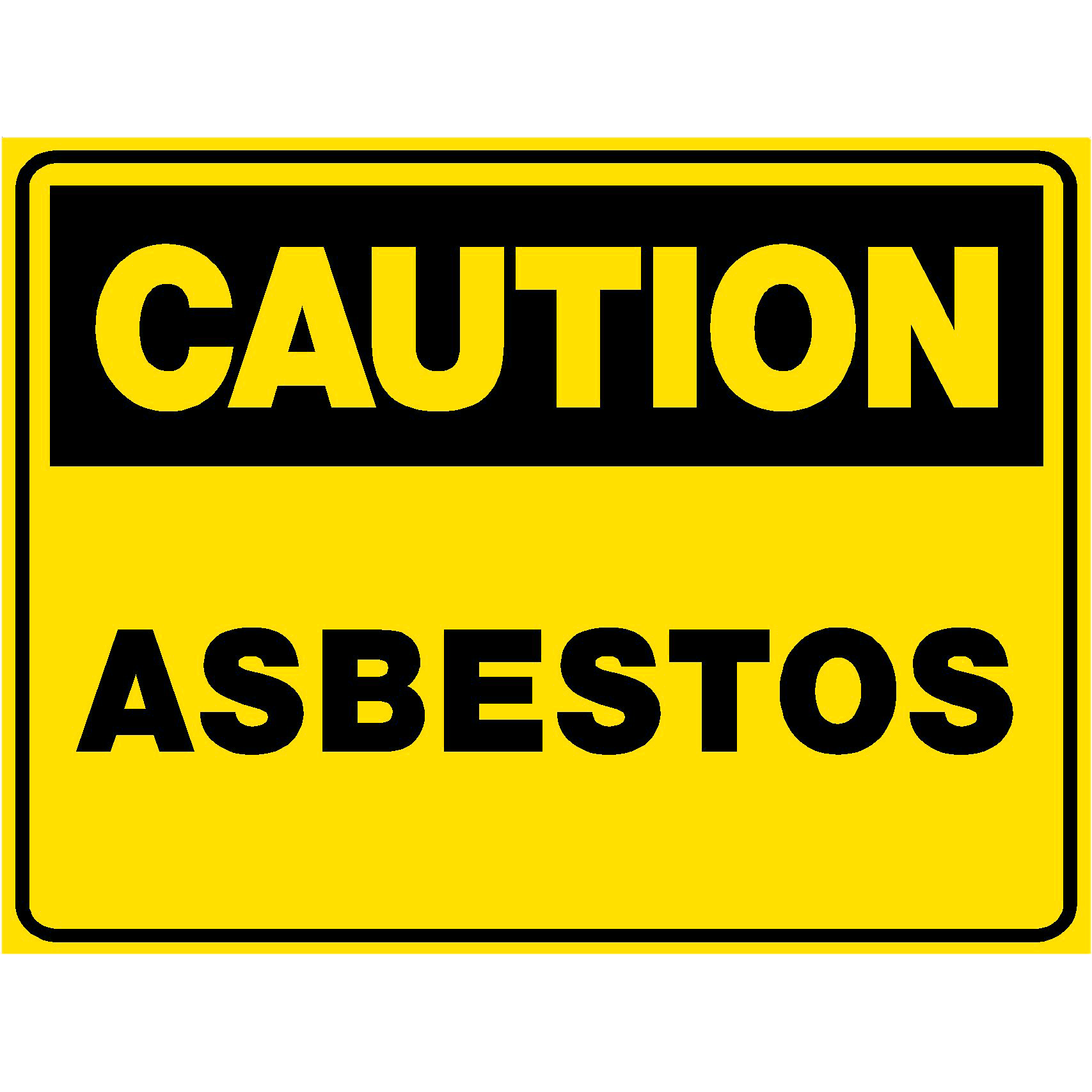 Warning Sign - Asbestos Present