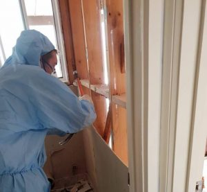 Asbestos Bathroom Cladding Removal