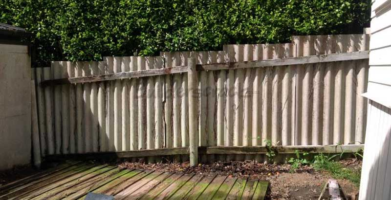 Old Asbestos Cement Fence